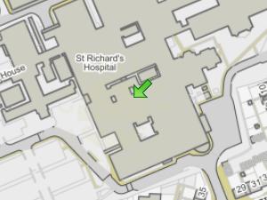 St Richard's Hospital location map